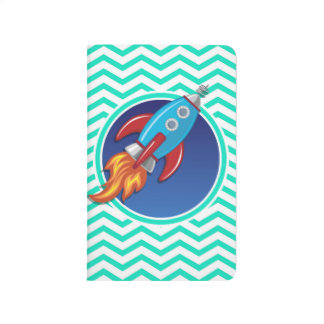ロケットの船; 水緑のシェブロン ポケットジャーナル