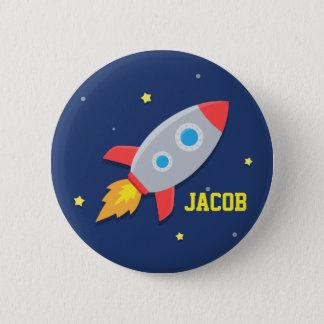 ロケットの船、男の子のための宇宙、 缶バッジ