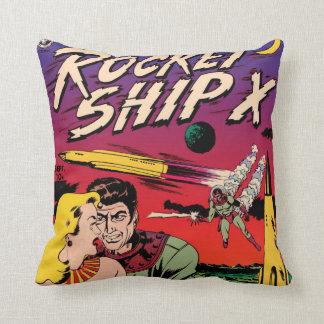 ロケットの船Xのヴィンテージのサイファイの漫画本カバー クッション