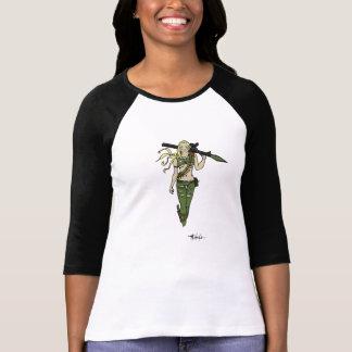 ロケットを持つ女神 Tシャツ