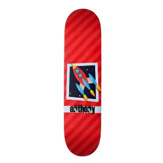 ロケット; 深紅の赤のストライプ スケートボード