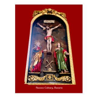 ロココ様式のカルヴァリー、ババリア ポストカード
