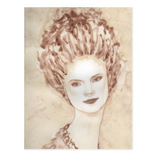 ロココ様式の女の子 ポストカード