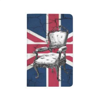 ロココ様式の椅子のイギリス英国国旗の旗 ポケットジャーナル