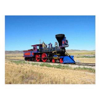 ロコモーティブの蒸気機関の列車の写真 ポストカード