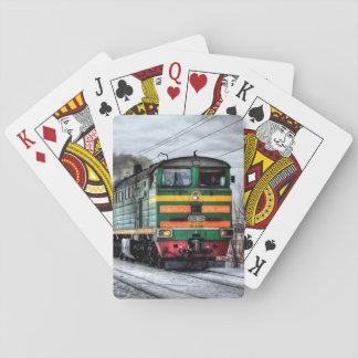 ロコモーティブの蒸気機関の列車カード トランプ