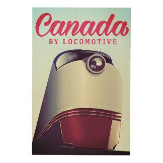 ロコモーティブの50年代の列車ポスターによるカナダ ウッドウォールアート