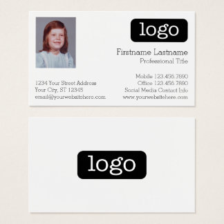 ロゴおよび写真との基本的なビジネスデザイン 名刺