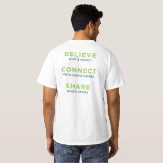 ロゴおよび目的の声明の人のワイシャツ Tシャツ