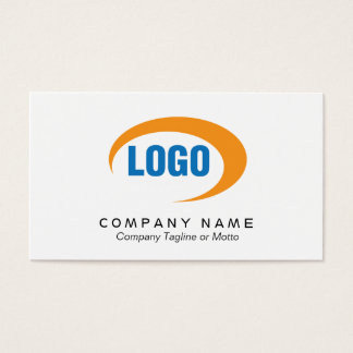 ロゴのクラシックで白い名刺 名刺