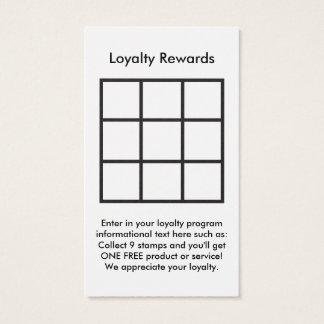 ロゴのロイヤリティはカードに報酬を与えます 名刺