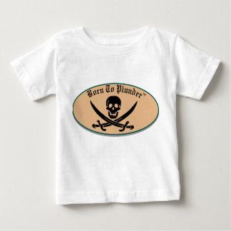 ロゴのワイシャツを略奪するために生まれて下さい ベビーTシャツ
