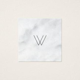 ロゴの白の大理石 スクエア名刺