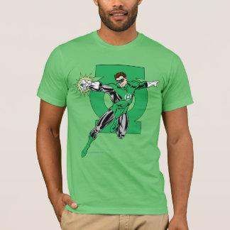 ロゴの背景が付いている緑のランタン Tシャツ