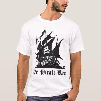 ロゴの背部との海賊湾のロゴ Tシャツ