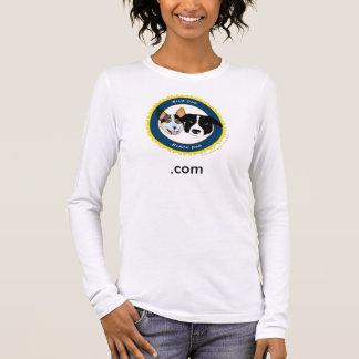 ロゴの長袖の女性 Tシャツ