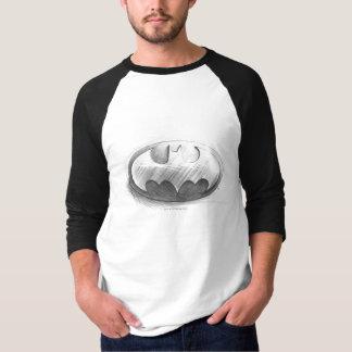 ロゴを引くバットマンの記号|の記章 Tシャツ