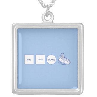 ロゴ シルバープレートネックレス