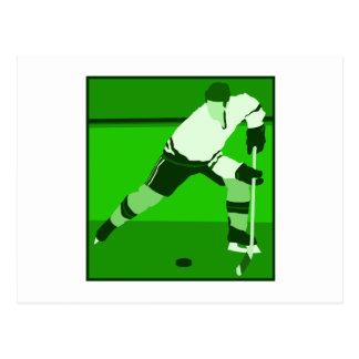 ロゴ-緑のアイスホッケー ポストカード