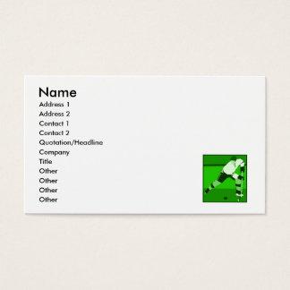 ロゴ-緑のアイスホッケー 名刺