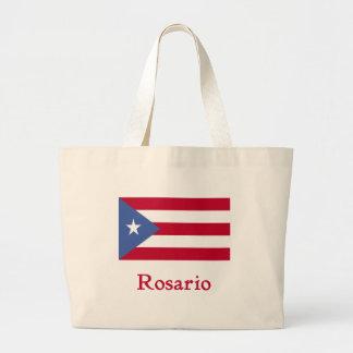 ロサリオのプエルトリコ人の旗 ラージトートバッグ