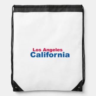 ロサンゼルスのカリフォルニアドローストリングのバックパック ナップサック