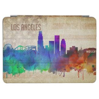 ロサンゼルスのカリフォルニア|の水彩画都市スカイライン iPad AIR カバー