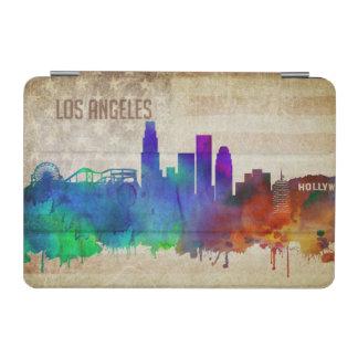 ロサンゼルスのカリフォルニア|の水彩画都市スカイライン iPad MINIカバー