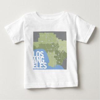 ロサンゼルスのグラフィックの地図 ベビーTシャツ
