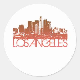 ロサンゼルスのスカイラインのデザイン ラウンドシール