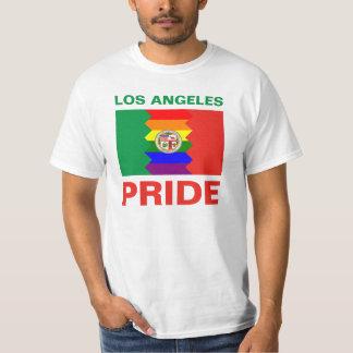 ロサンゼルスのプライドの虹の旗 Tシャツ