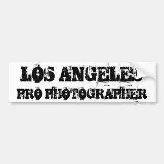 ロサンゼルスのプロカメラマンのバンパーステッカー バンパーステッカー