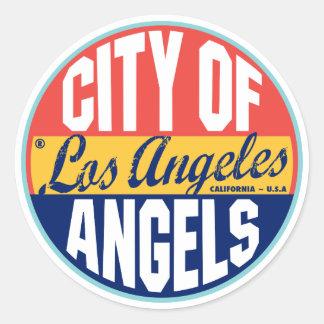 ロサンゼルスのヴィンテージのラベル ラウンドシール