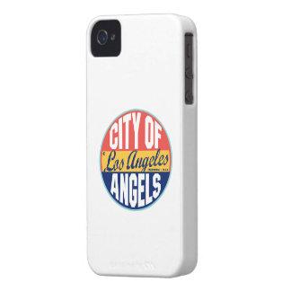 ロサンゼルスのヴィンテージのラベル iPhone 4 ケース