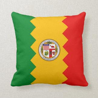 ロサンゼルスの旗のアメリカ人のMoJoの枕 クッション