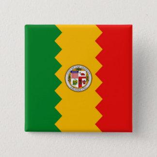 ロサンゼルスの旗、カリフォルニアが付いているボタン 5.1CM 正方形バッジ