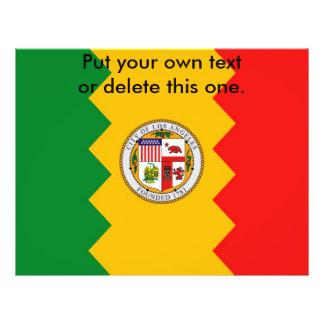 ロサンゼルスの旗、カリフォルニア、米国が付いているフライヤ チラシ