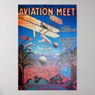 ロサンゼルスの航空ショー ポスター