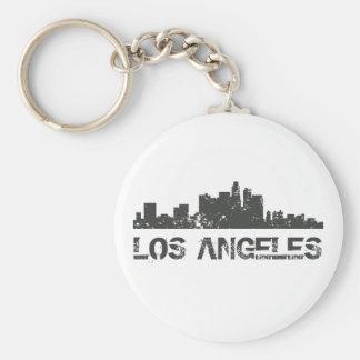 ロサンゼルスの都市景観のスカイライン キーホルダー