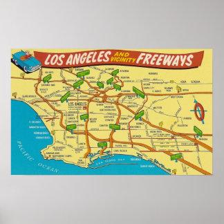 ロサンゼルスの高速道路 ポスター