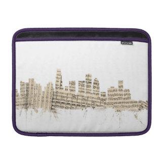 ロサンゼルスカリフォルニアのスカイラインの楽譜Citysca MacBook スリーブ