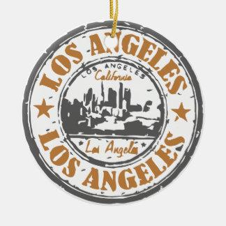 ロサンゼルスカリフォルニアのプライドのシール セラミックオーナメント