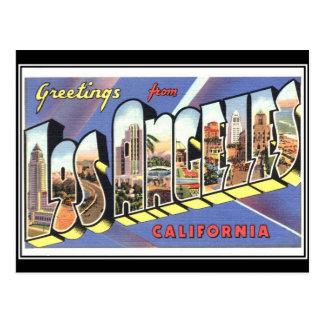 ロサンゼルスカリフォルニアのヴィンテージからの挨拶 ポストカード