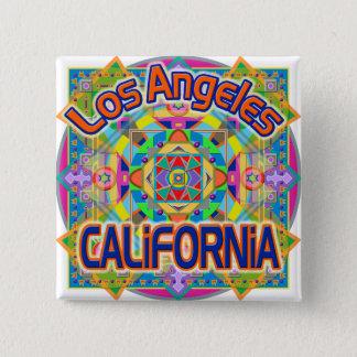 ロサンゼルスカリフォルニアの幸せなボタン 5.1CM 正方形バッジ