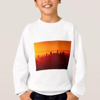 ロサンゼルスカリフォルニア都市都市スカイライン スウェットシャツ