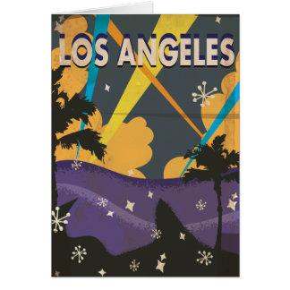 ロサンゼルスハリウッドのヴィンテージの休暇ポスター カード