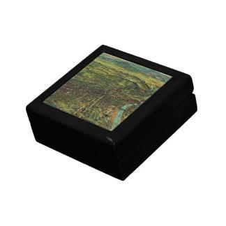 ロサンゼルス、カリフォルニアおよび川のヴィンテージの地図 ギフトボックス