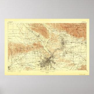 ロサンゼルス、カリフォルニア--1894地図 ポスター