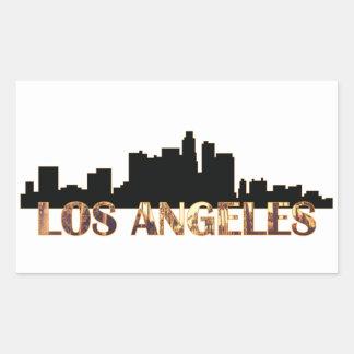 ロサンゼルス 長方形シール