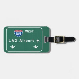 ロサンゼルスLAX空港I-105 W州連帯カリフォルニア- ラゲッジタグ